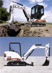 Bobcat Excavator 331 Working Range